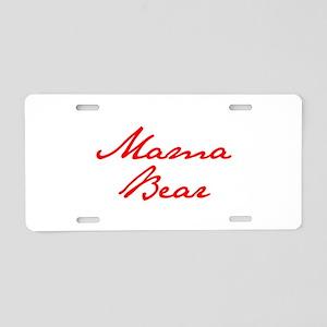 Mama Bear-Jan red 400 Aluminum License Plate
