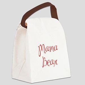 Mama Bear-MAS red 400 Canvas Lunch Bag