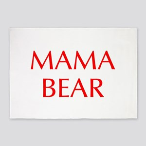 Mama Bear-Opt red 550 5'x7'Area Rug