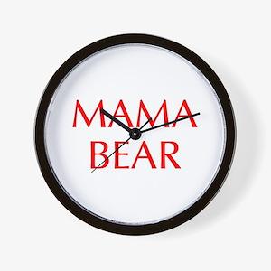 Mama Bear-Opt red 550 Wall Clock