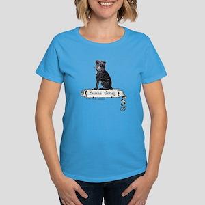 Brussels Griffon Banner Women's Dark T-Shirt