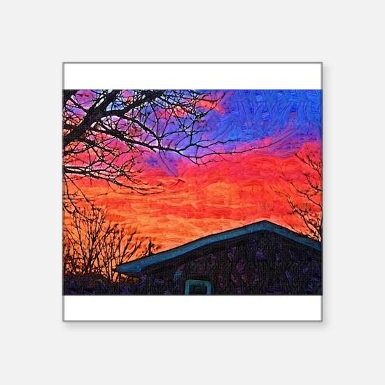 Evening Sunset Painting Sticker