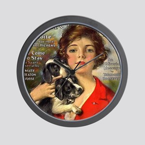 old time magazine cover Wall Clock
