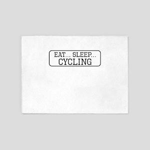 Eat Sleep Cycling 5'x7'Area Rug
