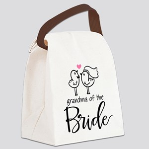 Grandma of The Bride Canvas Lunch Bag