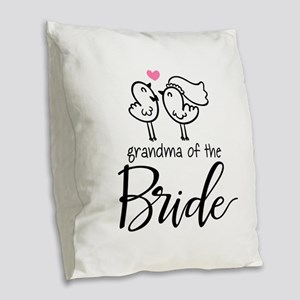 Grandma of The Bride Burlap Throw Pillow
