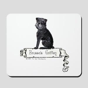 Brussels Griffon Banner Mousepad