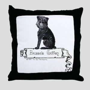 Brussels Griffon Banner Throw Pillow
