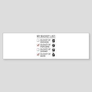 My Bucket List Sticker (Bumper)