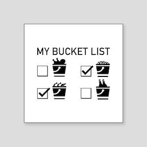 "My Bucket List Square Sticker 3"" x 3"""