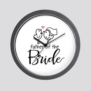 Cute father of the Bride Wall Clock