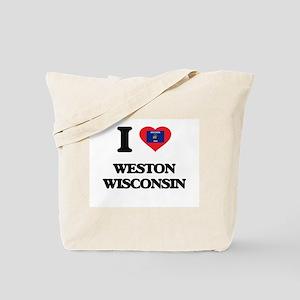I love Weston Wisconsin Tote Bag