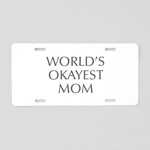 World s Okayest Mom-Opt gray 550 Aluminum License