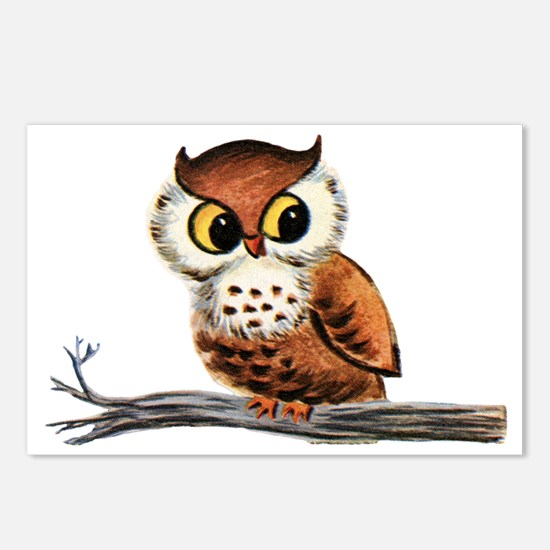 Vintage Owl Postcards (Package of 8)