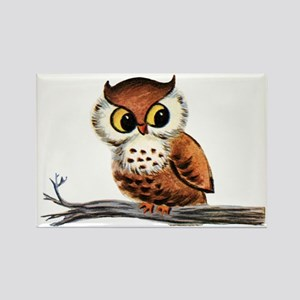Vintage Owl Rectangle Magnet