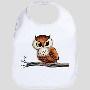 Vintage Owl Bib