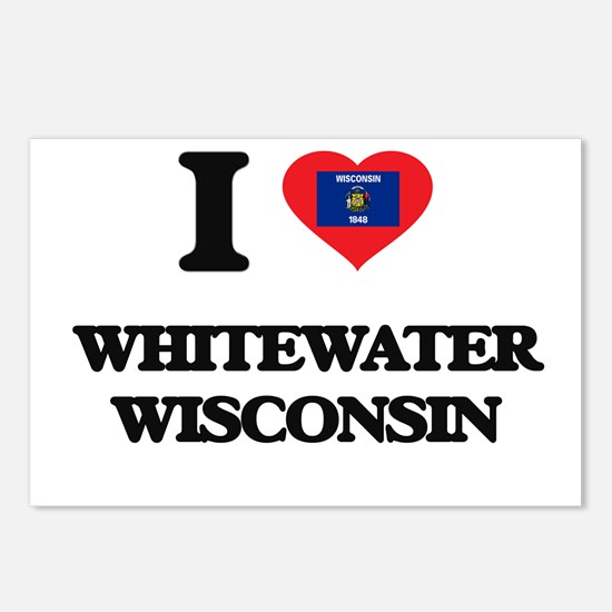 I love Whitewater Wiscons Postcards (Package of 8)