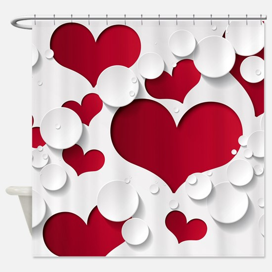 Heart Shapes Shower Curtain