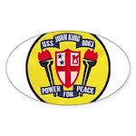 USS JOHN KING Sticker (Oval)