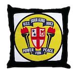 USS JOHN KING Throw Pillow