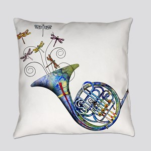 French Horn Everyday Pillow