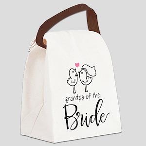 Grandpa of the Bride Canvas Lunch Bag