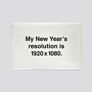 My New Year's Resolution Rectangle Magnet
