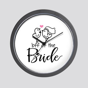 BFF of the Bride Wall Clock