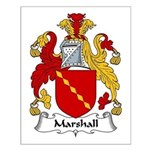 Marshall Family Crest Small Poster