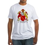 Marshall Family Crest  Fitted T-Shirt