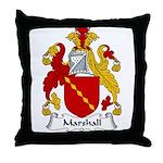 Marshall Family Crest Throw Pillow