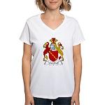 Marshall Family Crest  Women's V-Neck T-Shirt