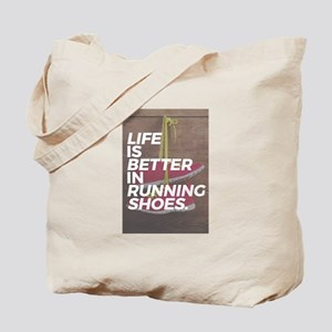Life Is Good When You Run Mid Tote Bag