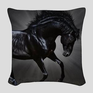 Dark Horse Woven Throw Pillow