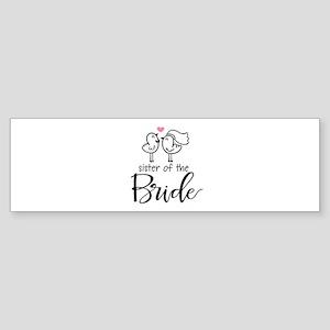 Sister of the Bride Sticker (Bumper)