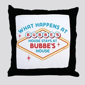 Las Vegas Stays At Bubbe's Throw Pillow