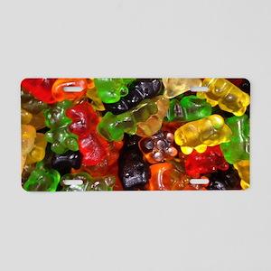cute gummy bears Aluminum License Plate