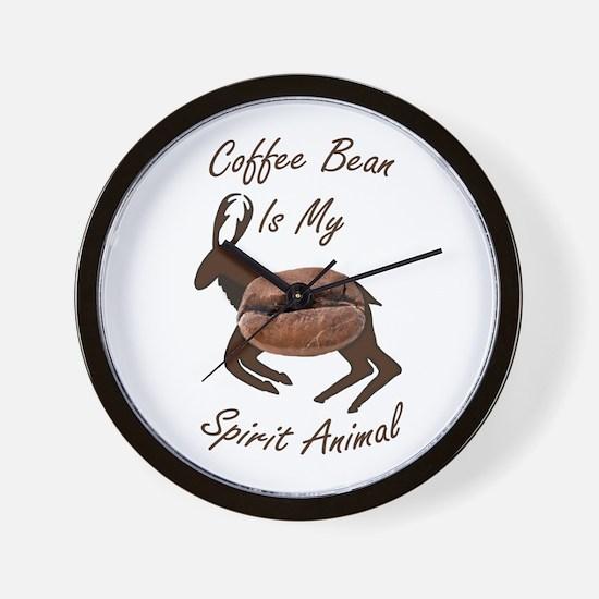 Coffee Bean Spirit Animal Wall Clock