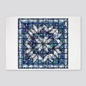 blue onion quilt 5'x7'Area Rug