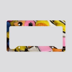 retro licorice candy License Plate Holder