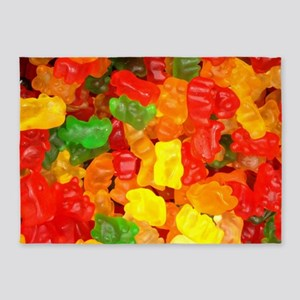 vintage gummy bears 5'x7'Area Rug