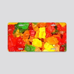 vintage gummy bears Aluminum License Plate