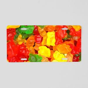 vintage gummy bears Aluminum License Plate
