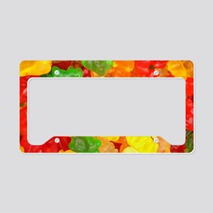 vintage gummy bears License Plate Holder