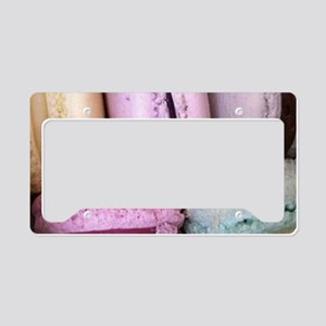 pastel macaron art License Plate Holder