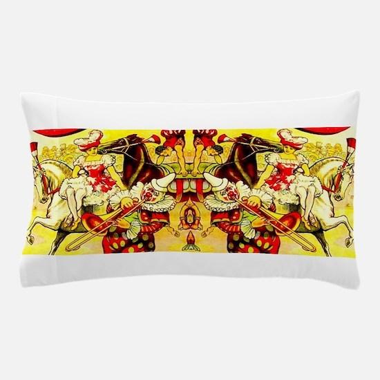 Circus Clown Lady Horses Vintage Pillow Case