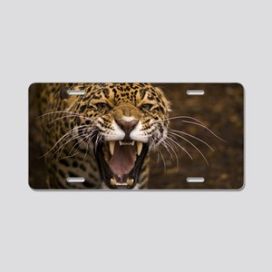Growling Jaguar Aluminum License Plate