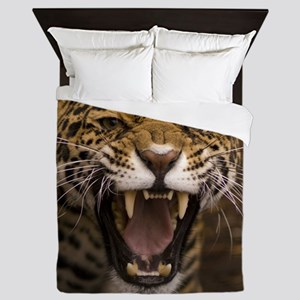 Growling Jaguar Queen Duvet