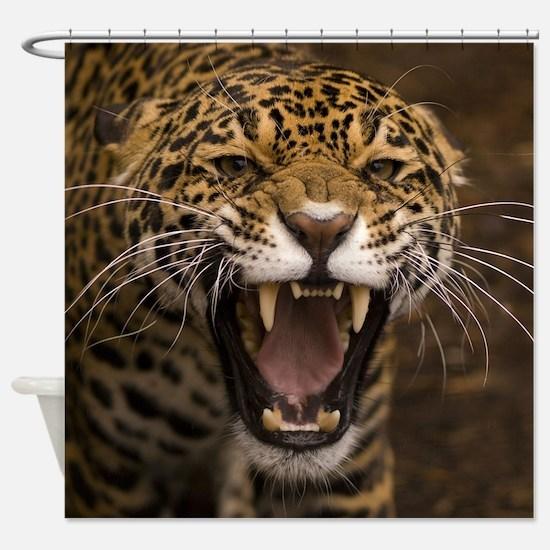Growling Jaguar Shower Curtain