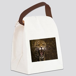 Growling Jaguar Canvas Lunch Bag